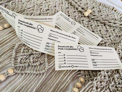 Textiletiketten zum Selbstbeschriften 50 Stück Set